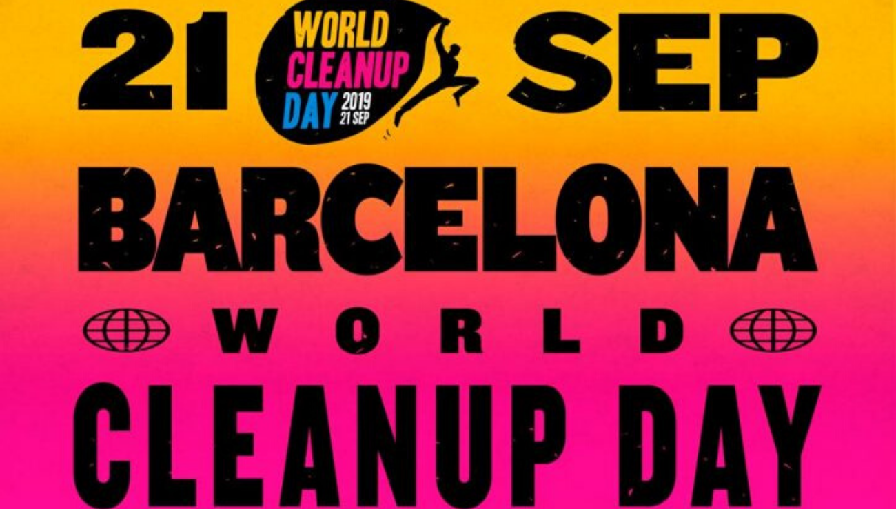 word clean up day barcelona